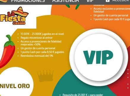 Bonos y promociones VIP La Fiesta Casino