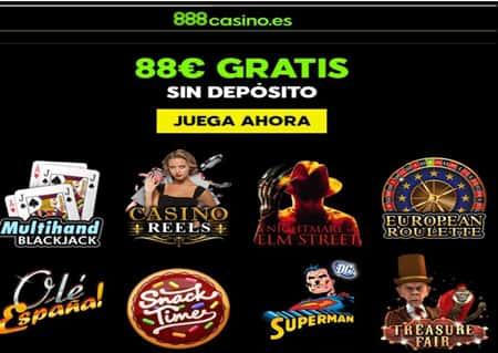 Bono por registro de hasta 88 euros Casino 888