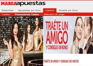 Casino Marca Apuesta da 50 euros por traer amigos