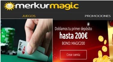 El primer depósito se duplica hasta por 200 euros en Merkurmagic