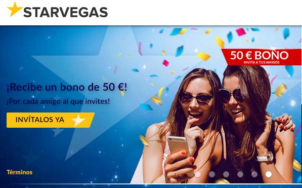 Bono de bienvenida Casino Starvegas hasta de 200 euros
