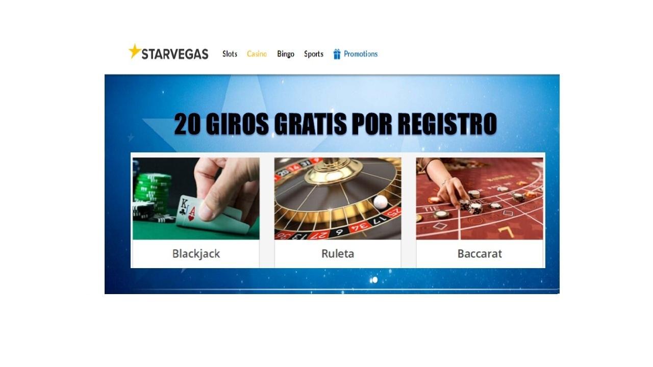 20 giros gratis en el casino Starvegas